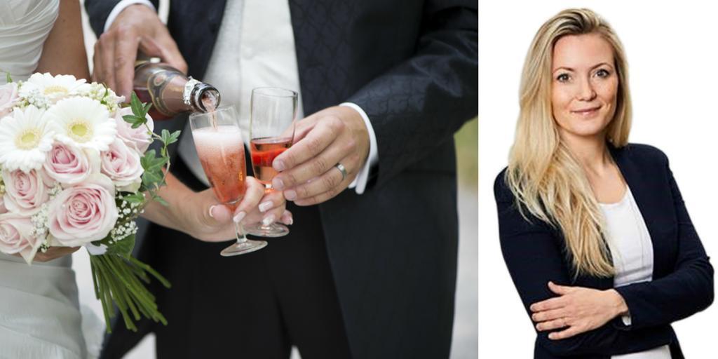 5ebebd55e5da I genomsnitt spenderar vi 54 000 kronor på vårt bröllop och 11 procent av  oss lägger ut över 100 000 kronor, skriver Linnéa Schmidt.