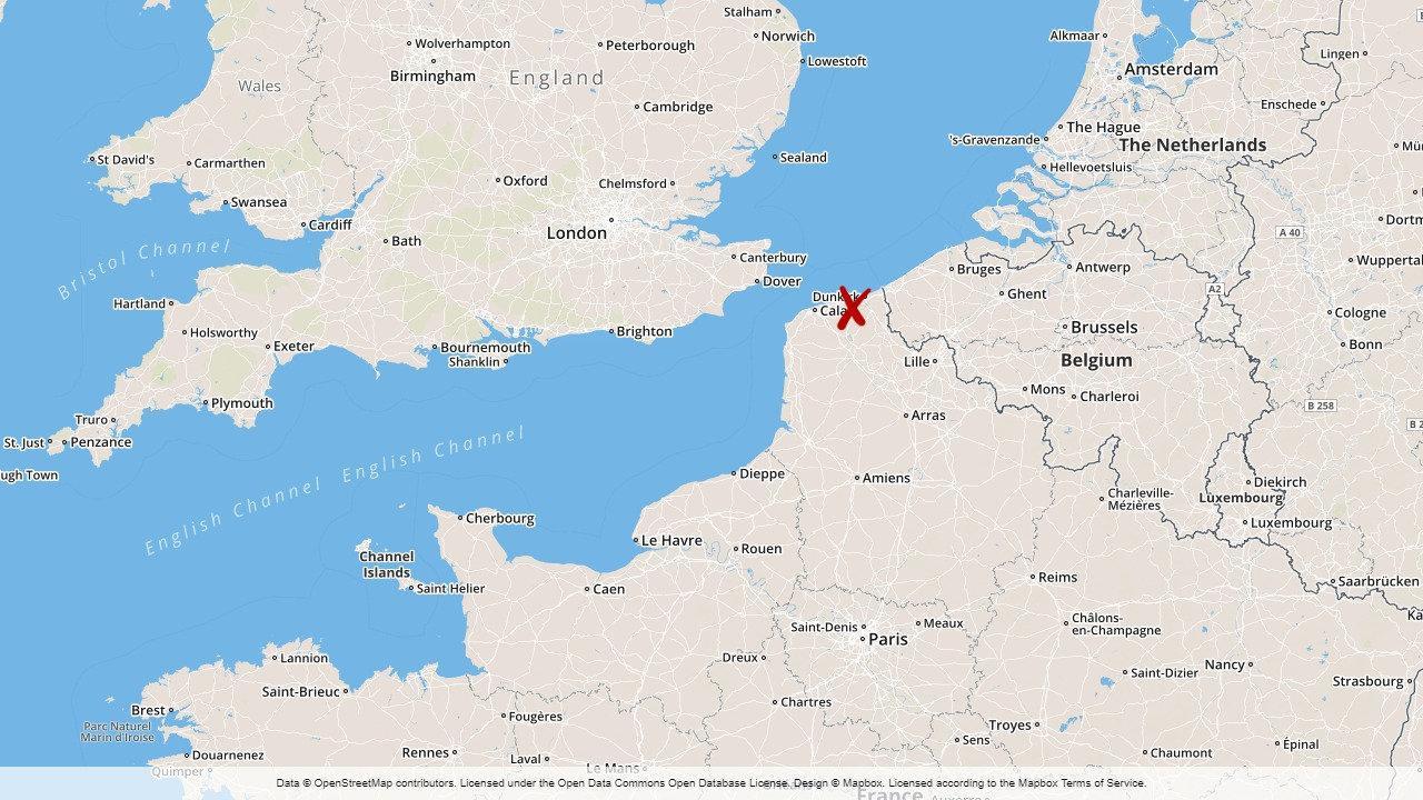 Flyktinglager Toms I Franska Dunkerque Gp