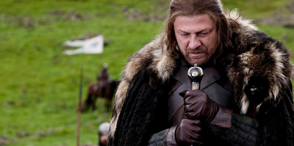 Sean Bean som Lord Eddard 'Ned' Stark i Game of Thrones.