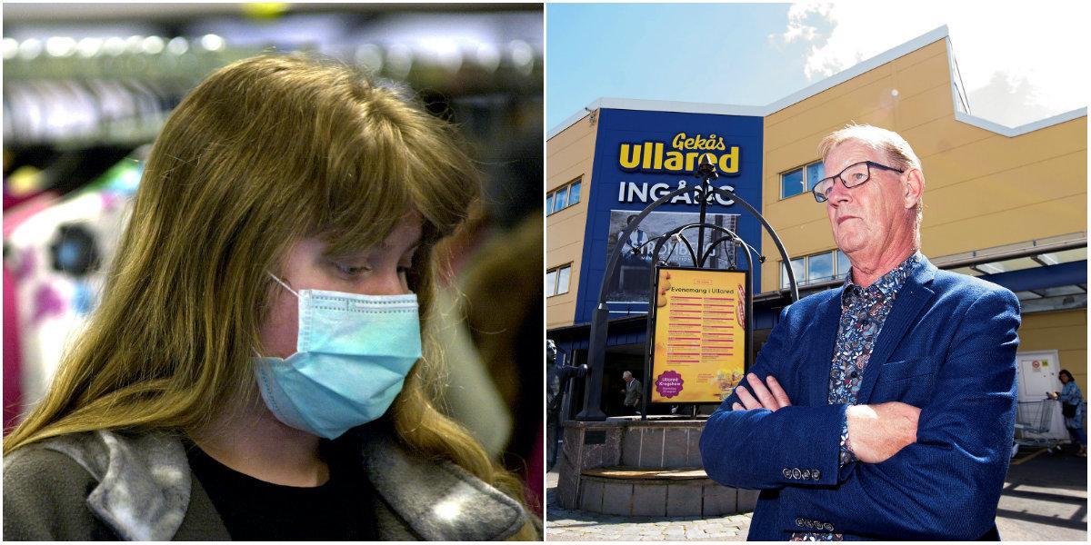 Anställda på Gekås får inte bära munskydd på jobbet