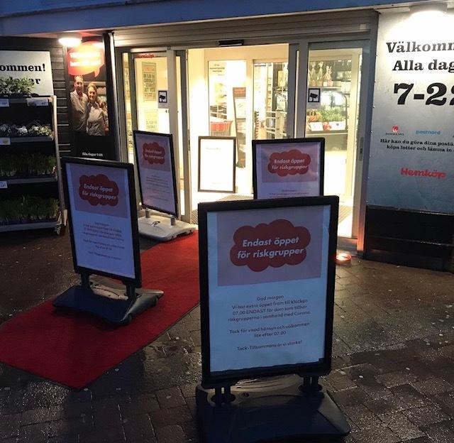 Matbutiker reserverar tid för riskgrupper