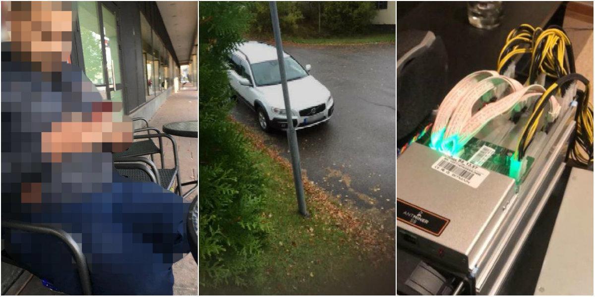 Misstanken: Lurade till sig bilar, datorer, kameror och bitcoinmaskiner