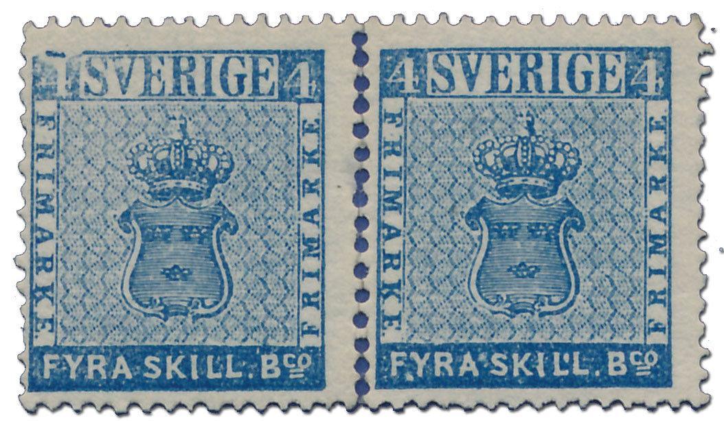Sveriges första frimärke sålt för en miljon