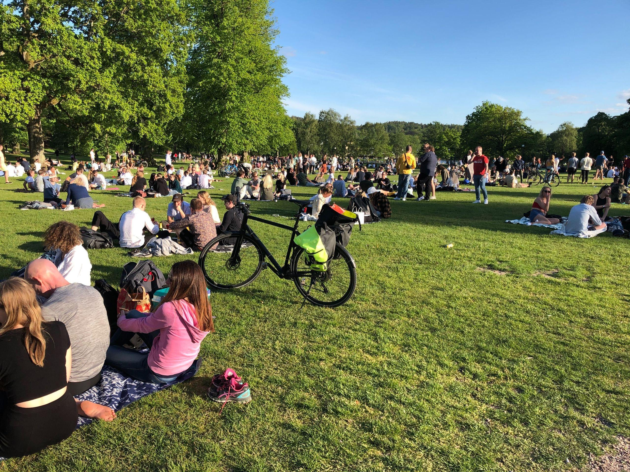 Göteborgare larmar om trängsel och stora skräphögar i Slottsskogen
