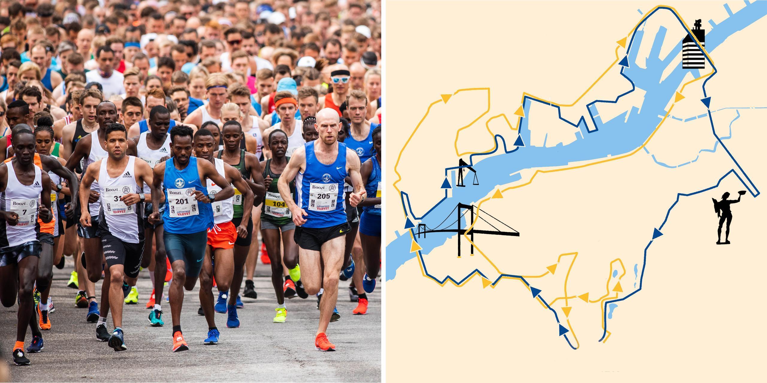 Sträckan klar för Göteborgsvarvets maratonlopp
