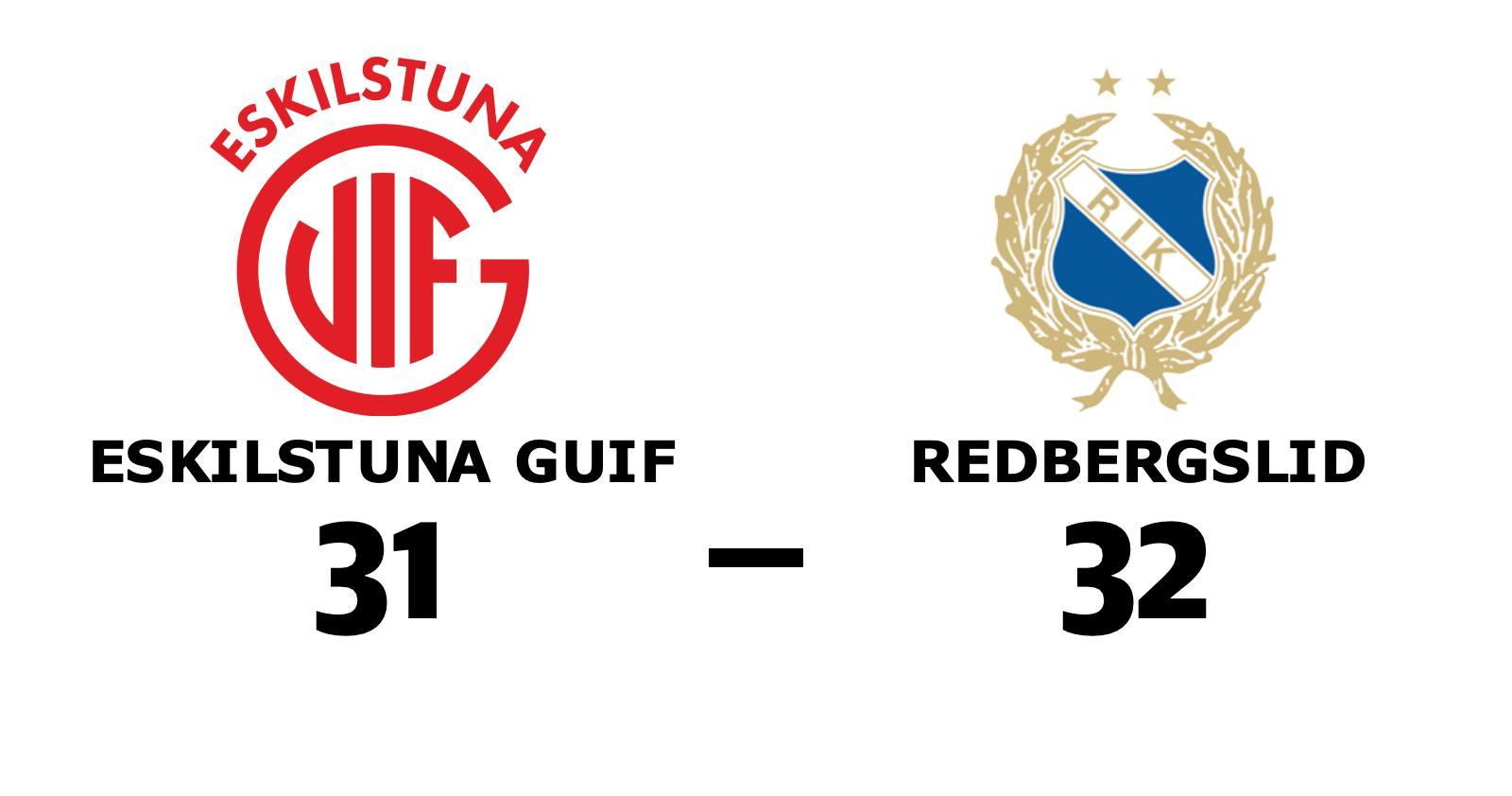 Redbergslid tog hem mötet med Eskilstuna Guif i Stiga Sports Arena