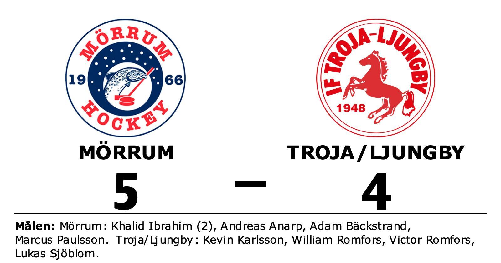 Mörrum vann efter avgörande i tredje perioden mot gästande Troja/Ljungby