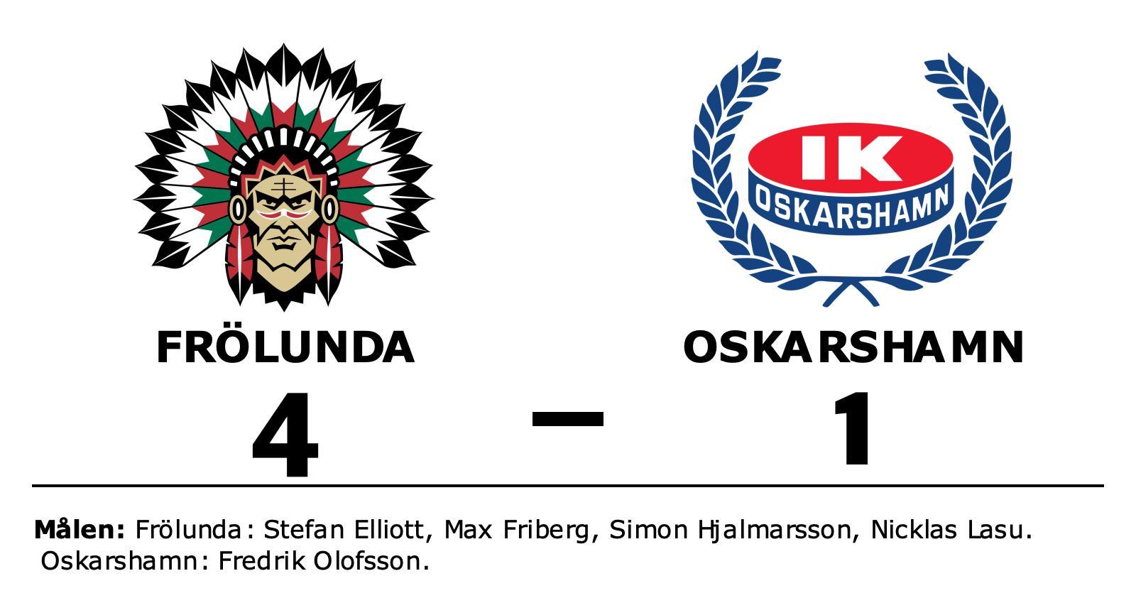 Frölunda fortsätter skörda segrar hemma – vann med 4–1 mot Oskarshamn