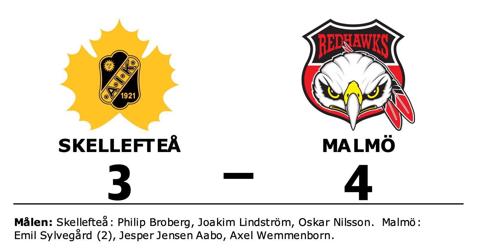 Tre poäng till Malmö efter avgörande i slutperioden mot Skellefteå
