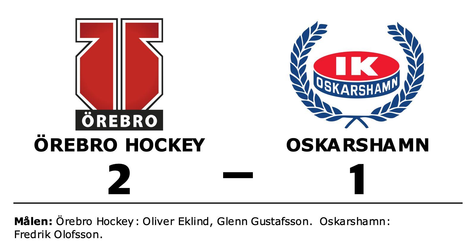 Örebro Hockey avgjorde tät match mot Oskarshamn i tredje perioden