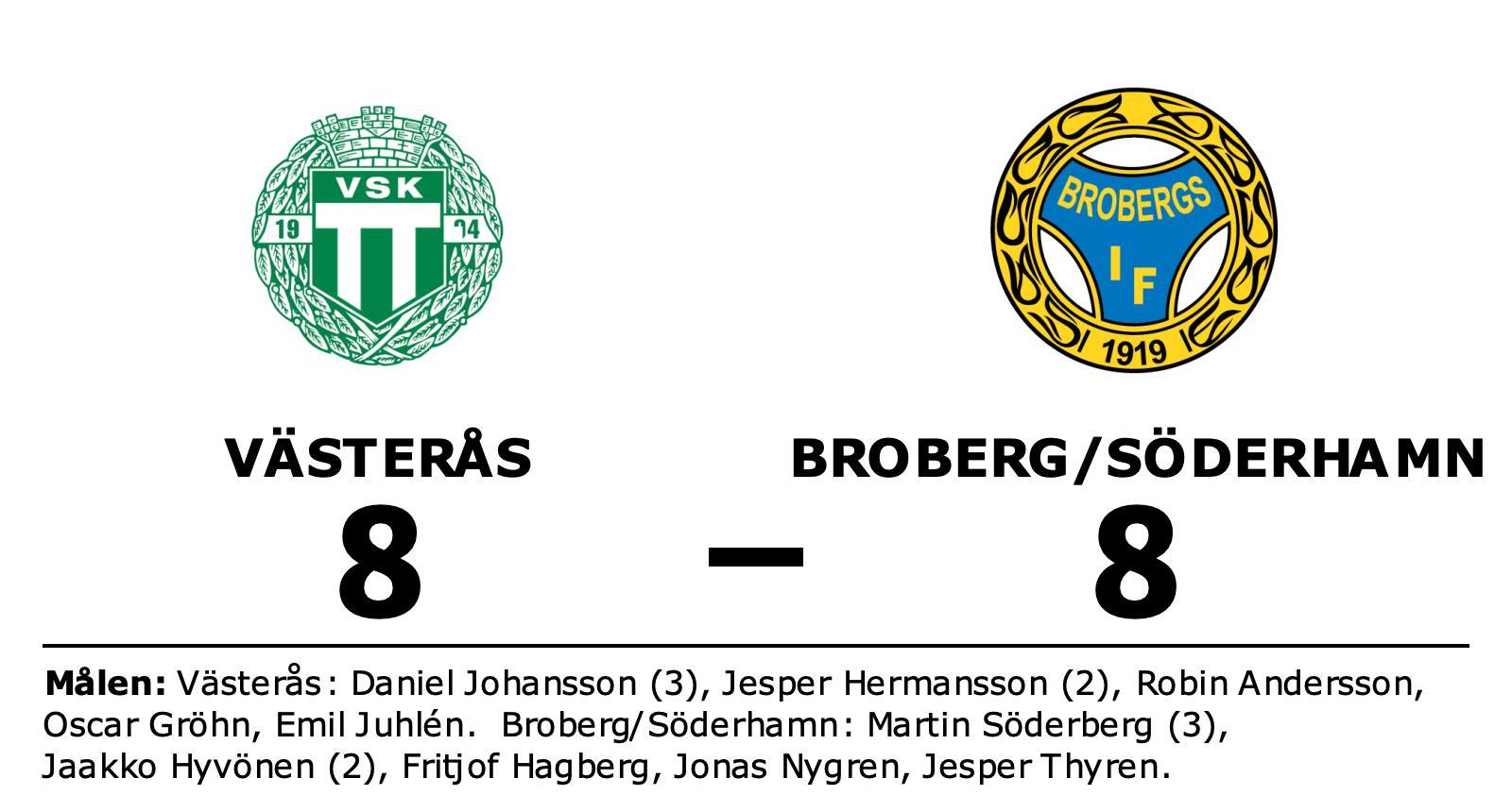 Västerås lyfte sig i andra och fixade kryss hemma mot Broberg/Söderhamn