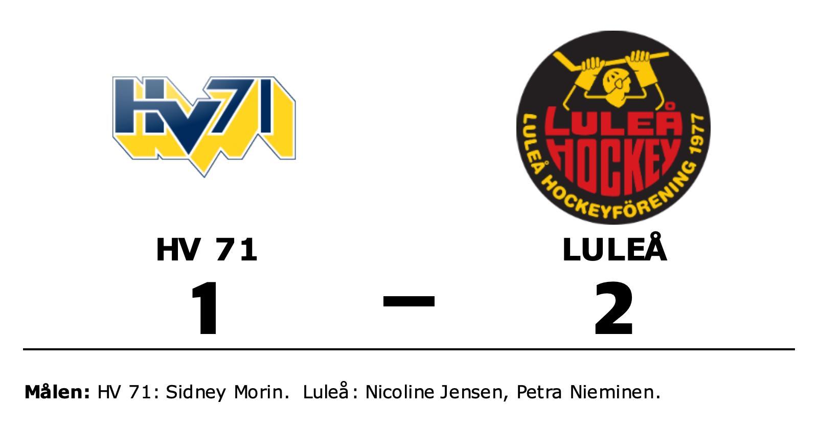 Luleå besegrade HV 71 och toppar nu tabellen