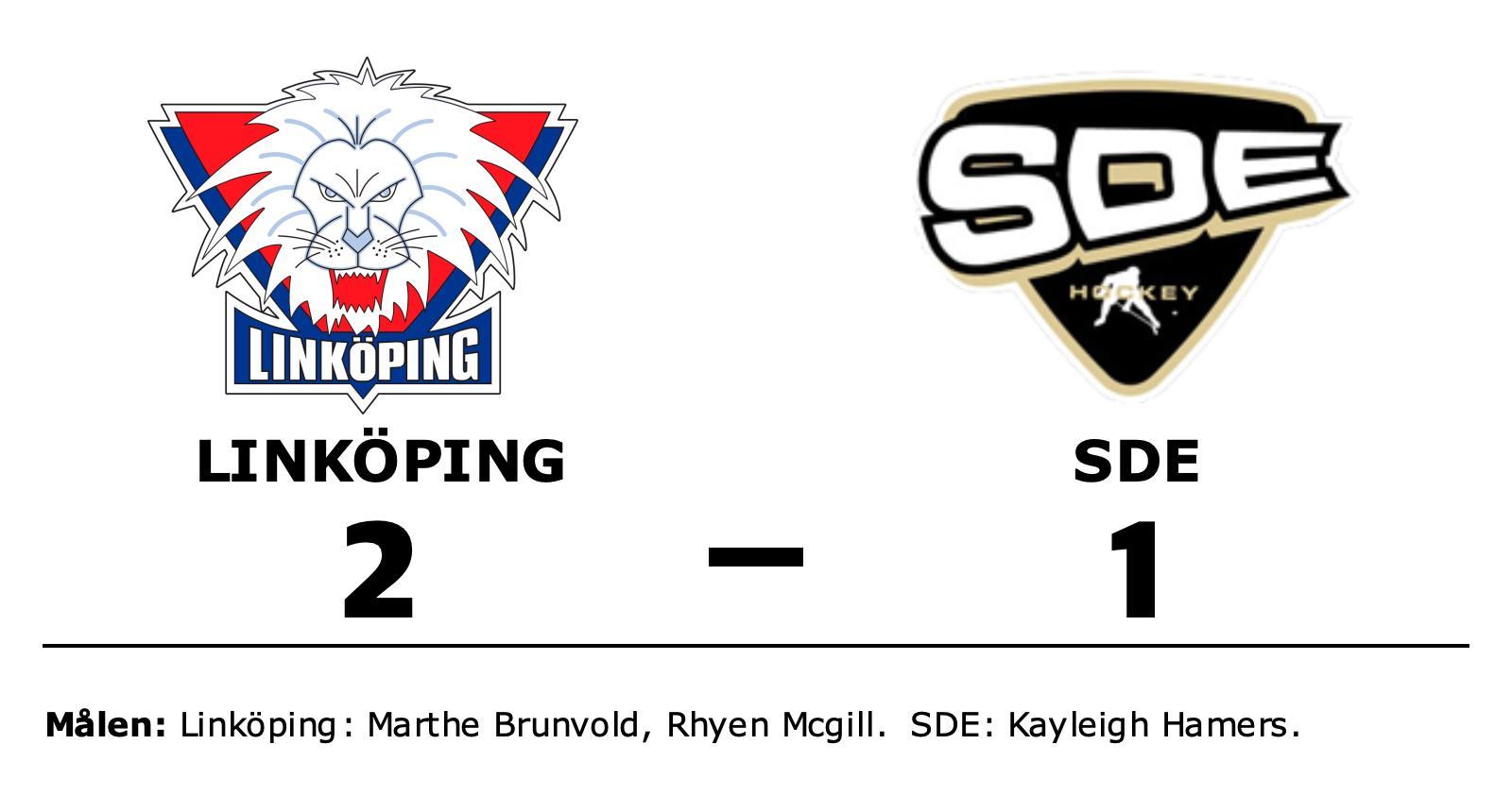 Linköping vann efter avgörande i förlängningen mot SDE