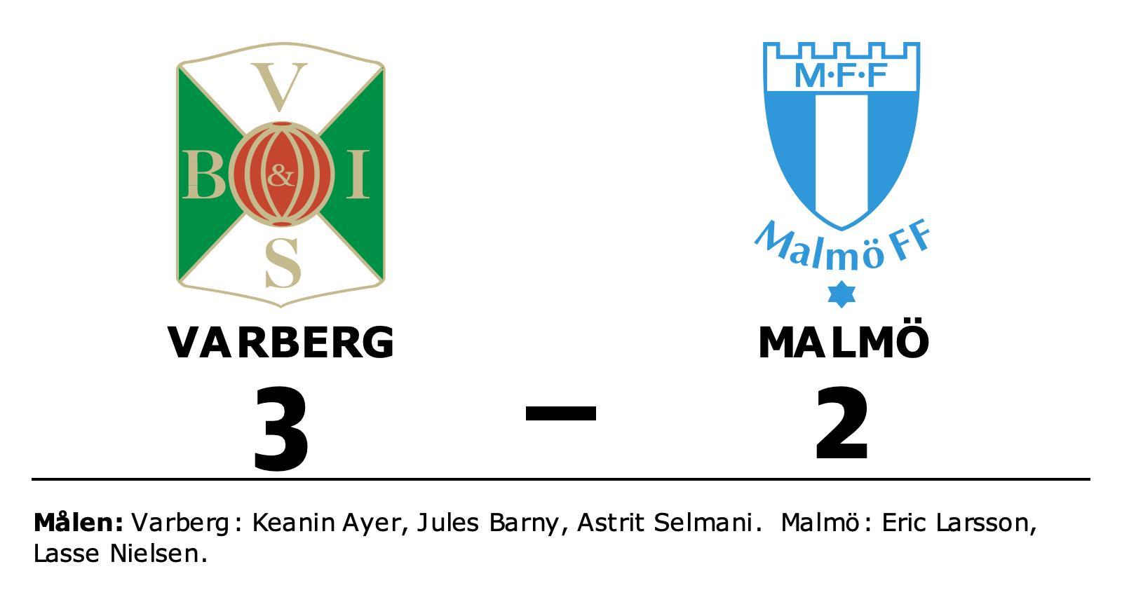 Segerraden förlängd för Varberg – besegrade Malmö