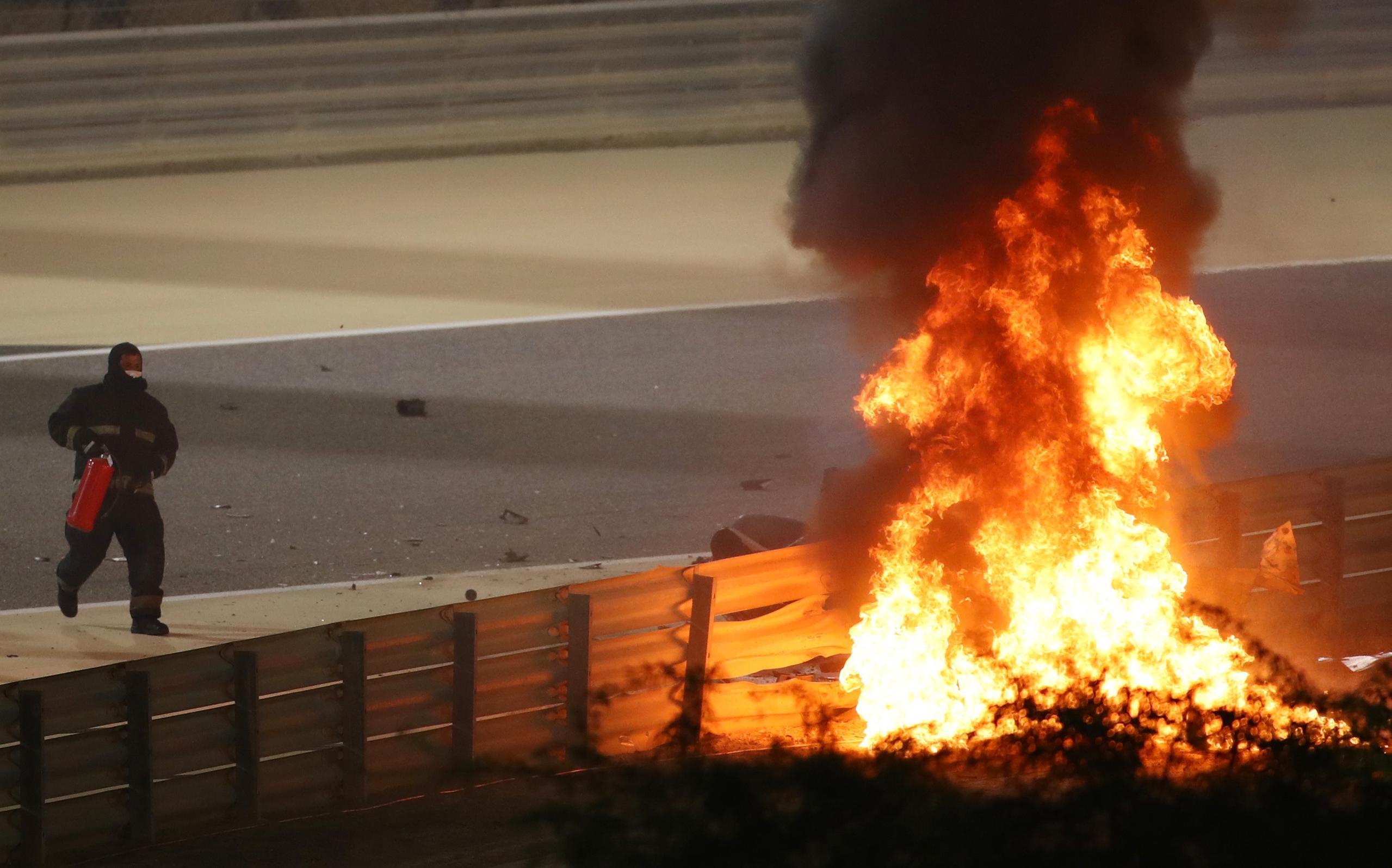 Romain Grosjean berättar om den otäcka kraschen