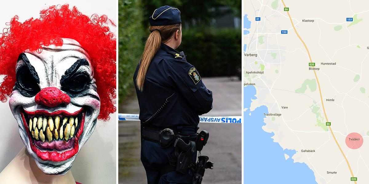 Karta E6 Goteborg.Clown Knivskar Ung Man Goteborgs Posten Vastsverige
