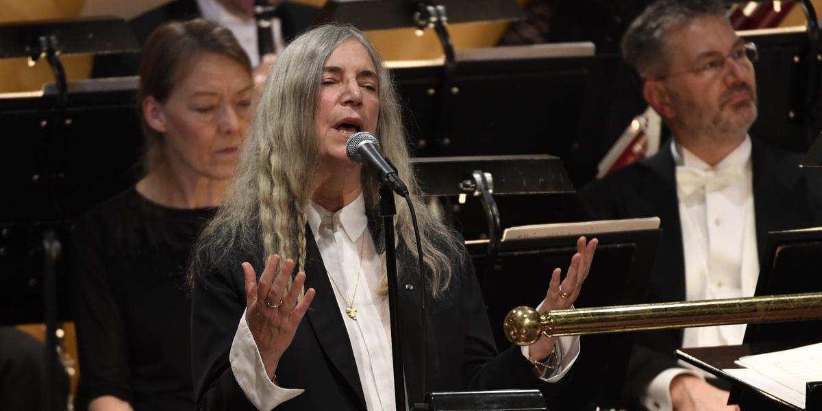 Patti Smith hyllas på festen