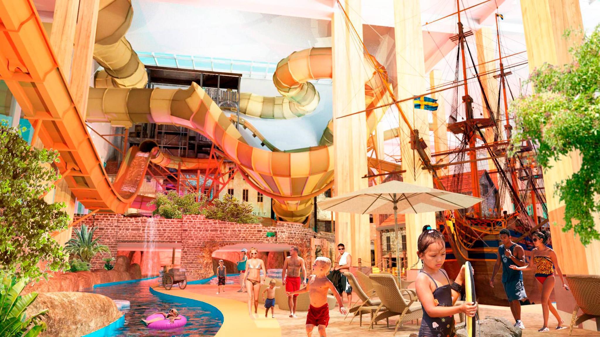 Förslag på Lisebergs nya äventyrsbad