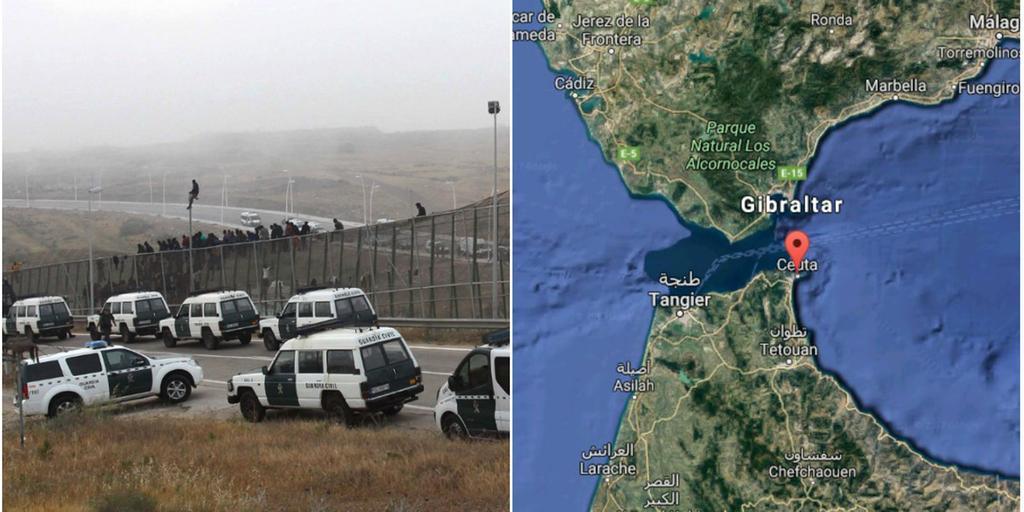 Minst 500 Personer Har Stormat Spanska Gransen Gp