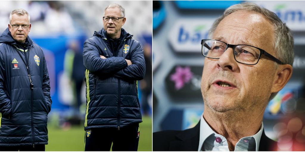 Sverige ställs mot Lagerbäck.
