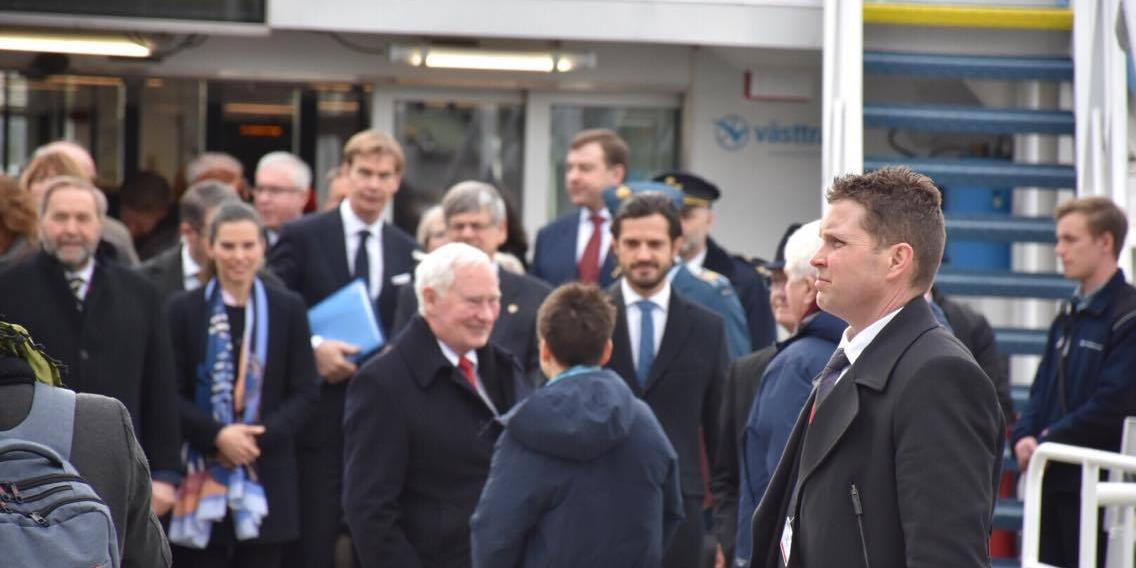 Kungen och prinsen åkte Älvsnabben i Göteborg