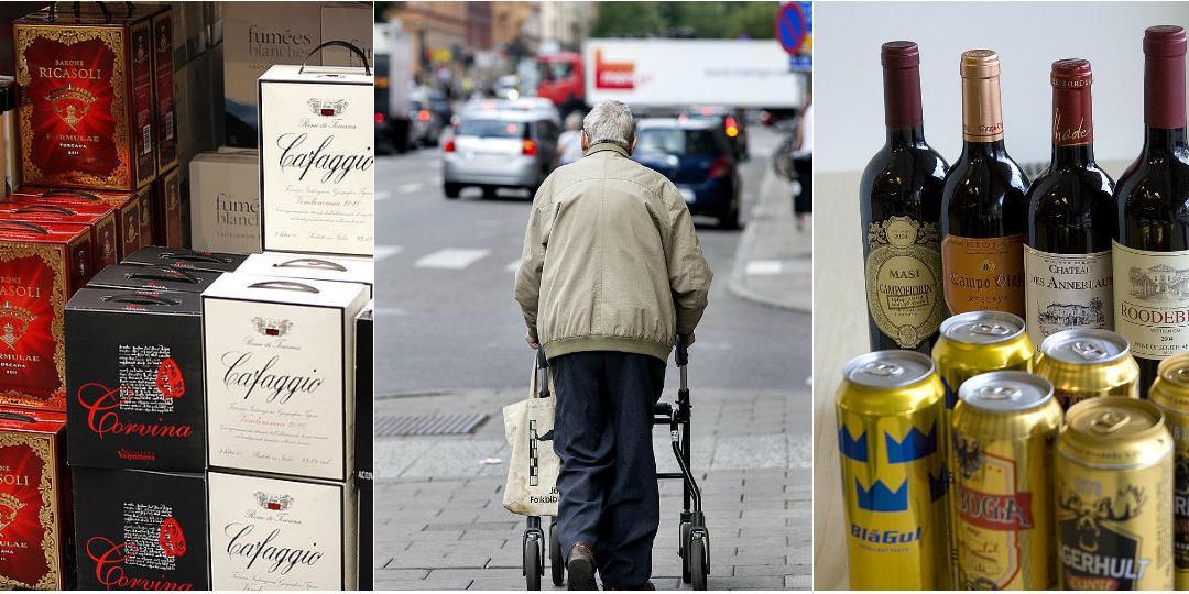 70-åring med rollator sålde sprit på gatan