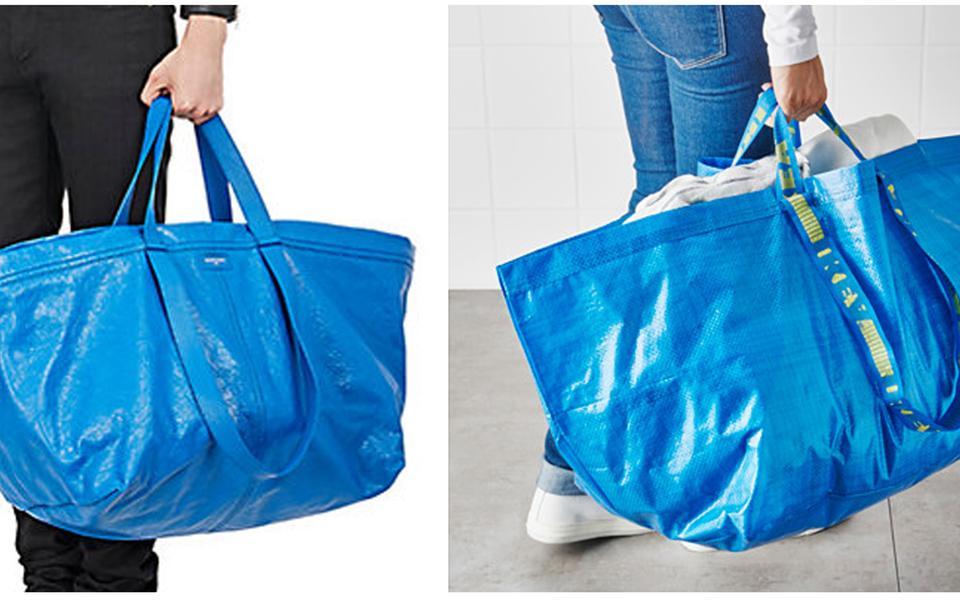 523f7613d1cf Lyx: 20 000 kronor, Balenciaga. Budget: 5 kronor, Ikea. Foto: Barney's/Ikea
