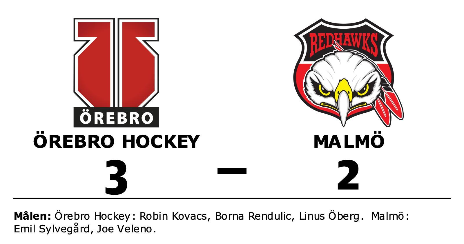Örebro Hockey tog hem mötet med Malmö i Behrn Arena
