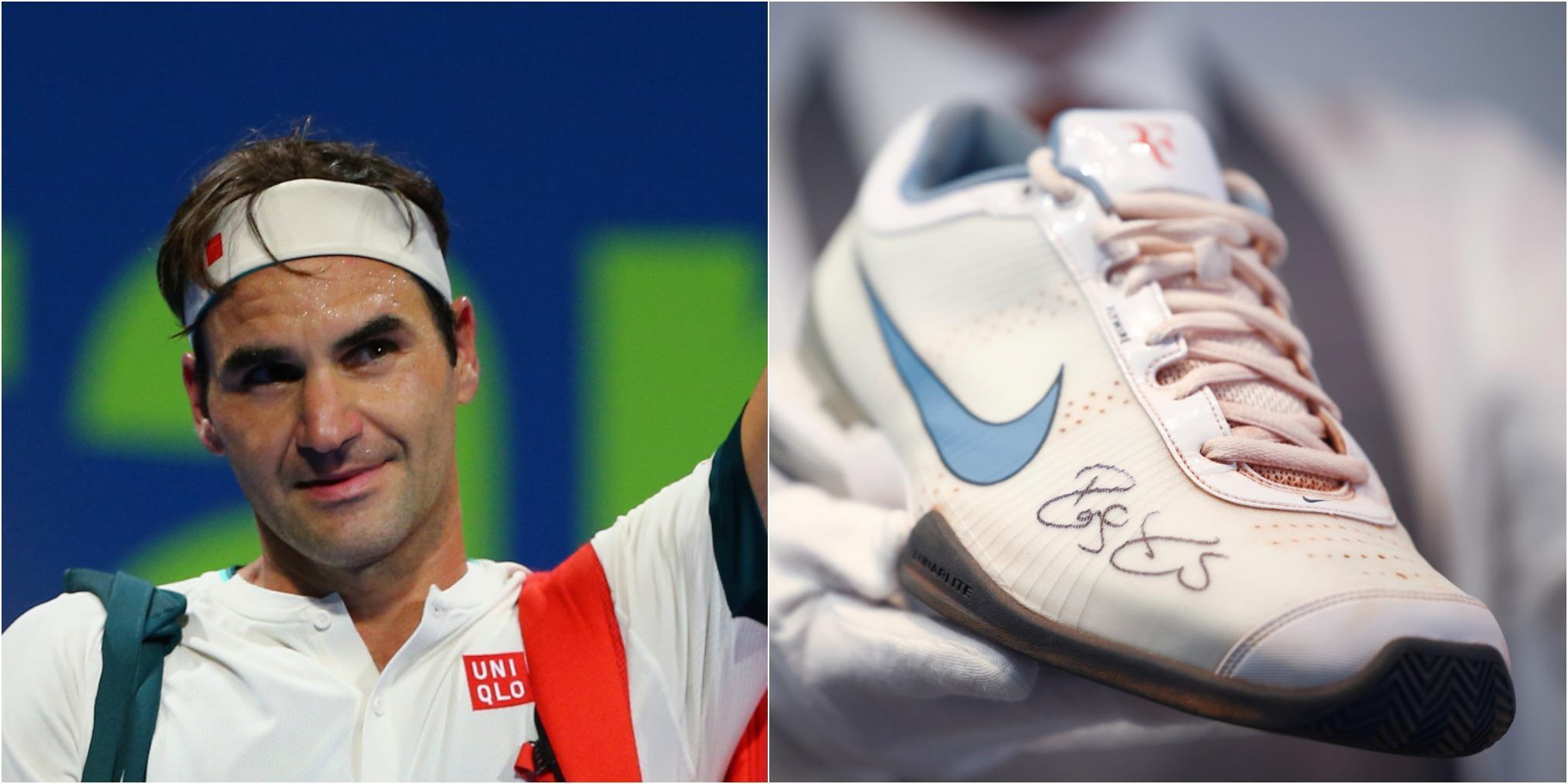 Roger Federer auktionerar ut ägodelar från sina 20 grand slam-titlar