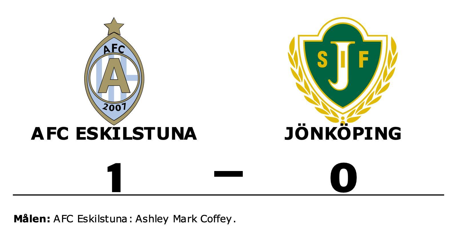 1–0-seger för AFC Eskilstuna mot Jönköping – Ashley Mark Coffey matchhjälte