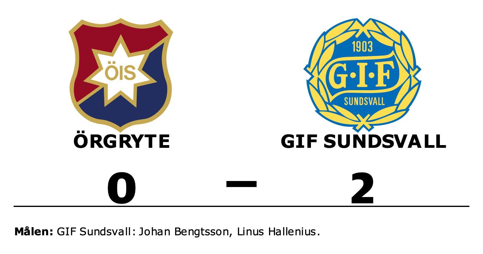 GIF Sundsvall upp i topp efter seger mot Örgryte