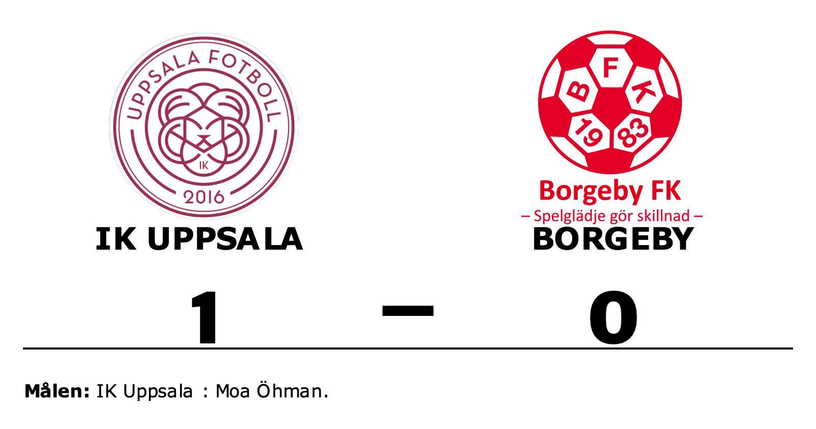 Moa Öhman matchhjälte för IK Uppsala hemma mot Borgeby