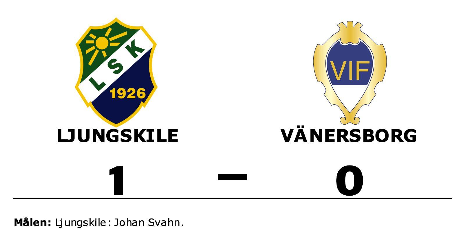 1–0-seger för Ljungskile mot Vänersborg – Johan Svahn matchhjälte