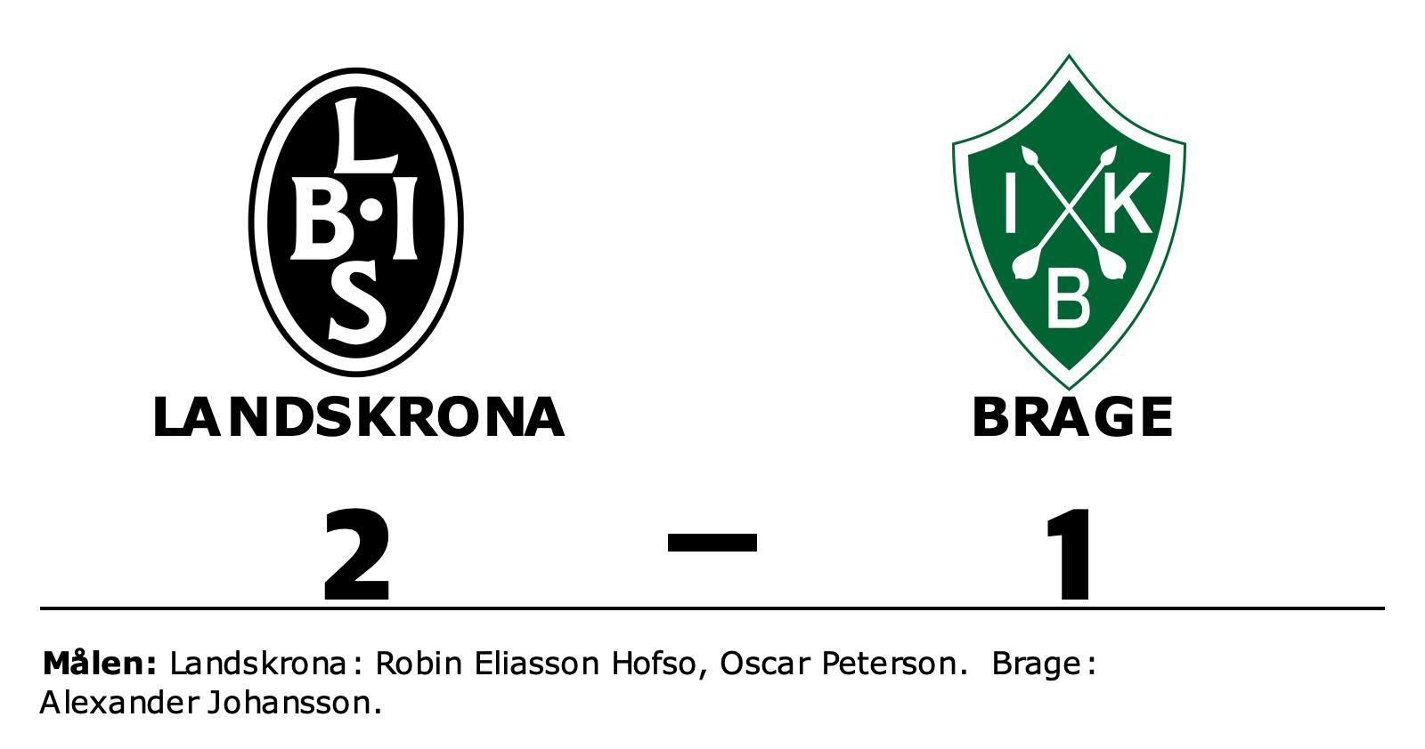 Landskrona ny serieledare efter 2-1 mot Brage