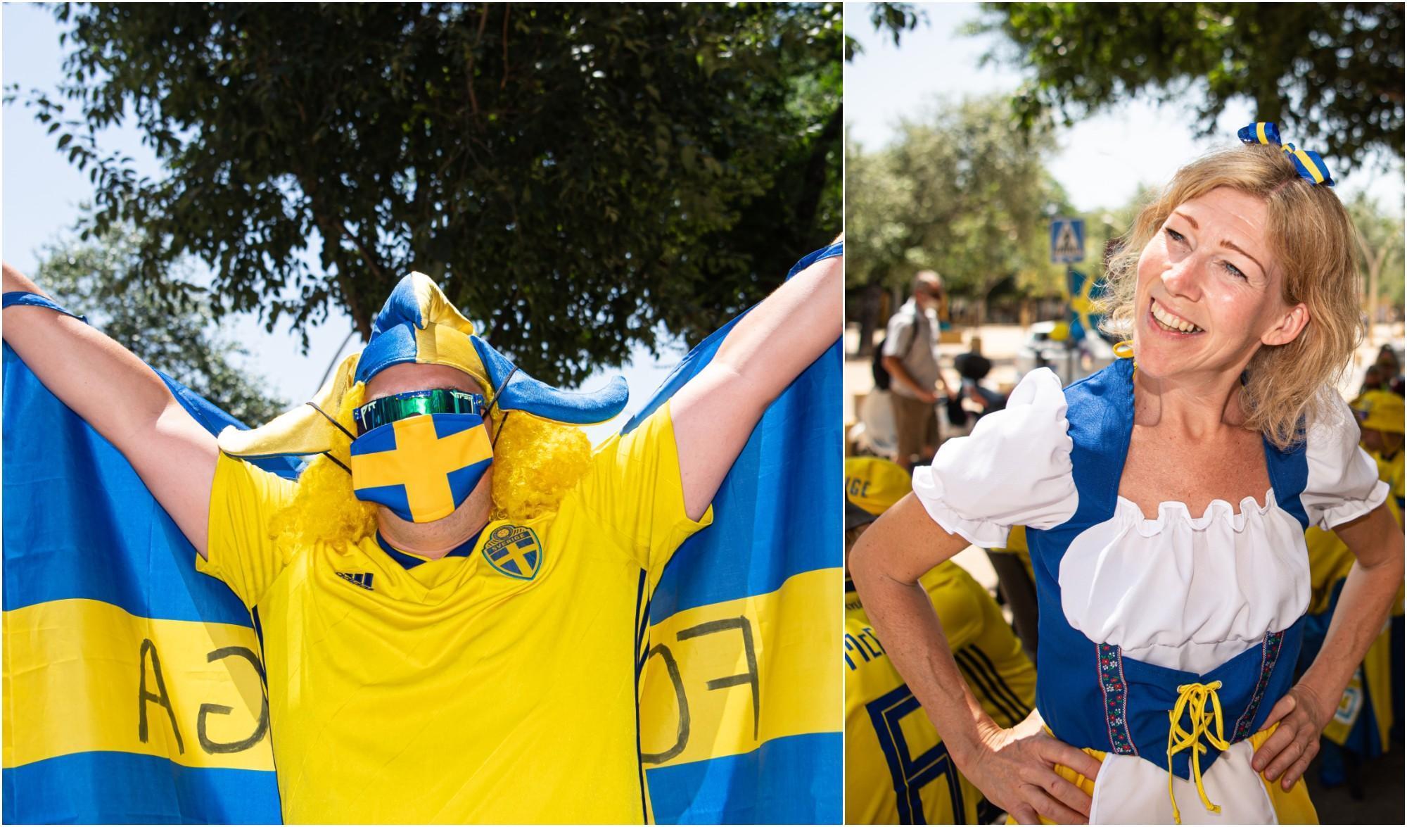 Här laddar svenska fansen för EM-match – mitt i Sevilla