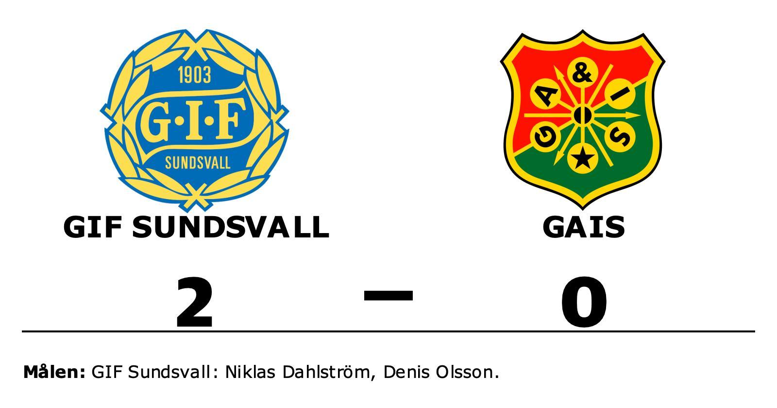 Niklas Dahlström och Denis Olsson matchvinnare när GIF Sundsvall vann mot GAIS