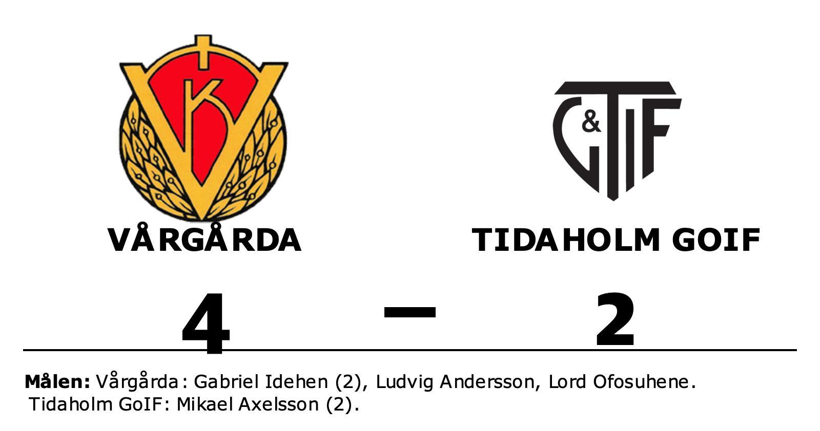 Gabriel Idehen i målform när Vårgårda vann mot Tidaholm GoIF