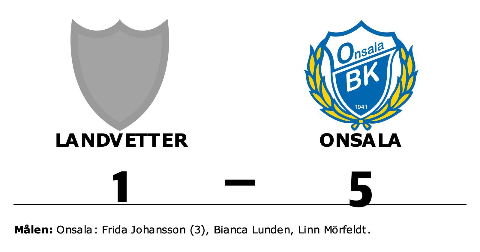 Onsala vann – efter Frida Johanssons hattrick