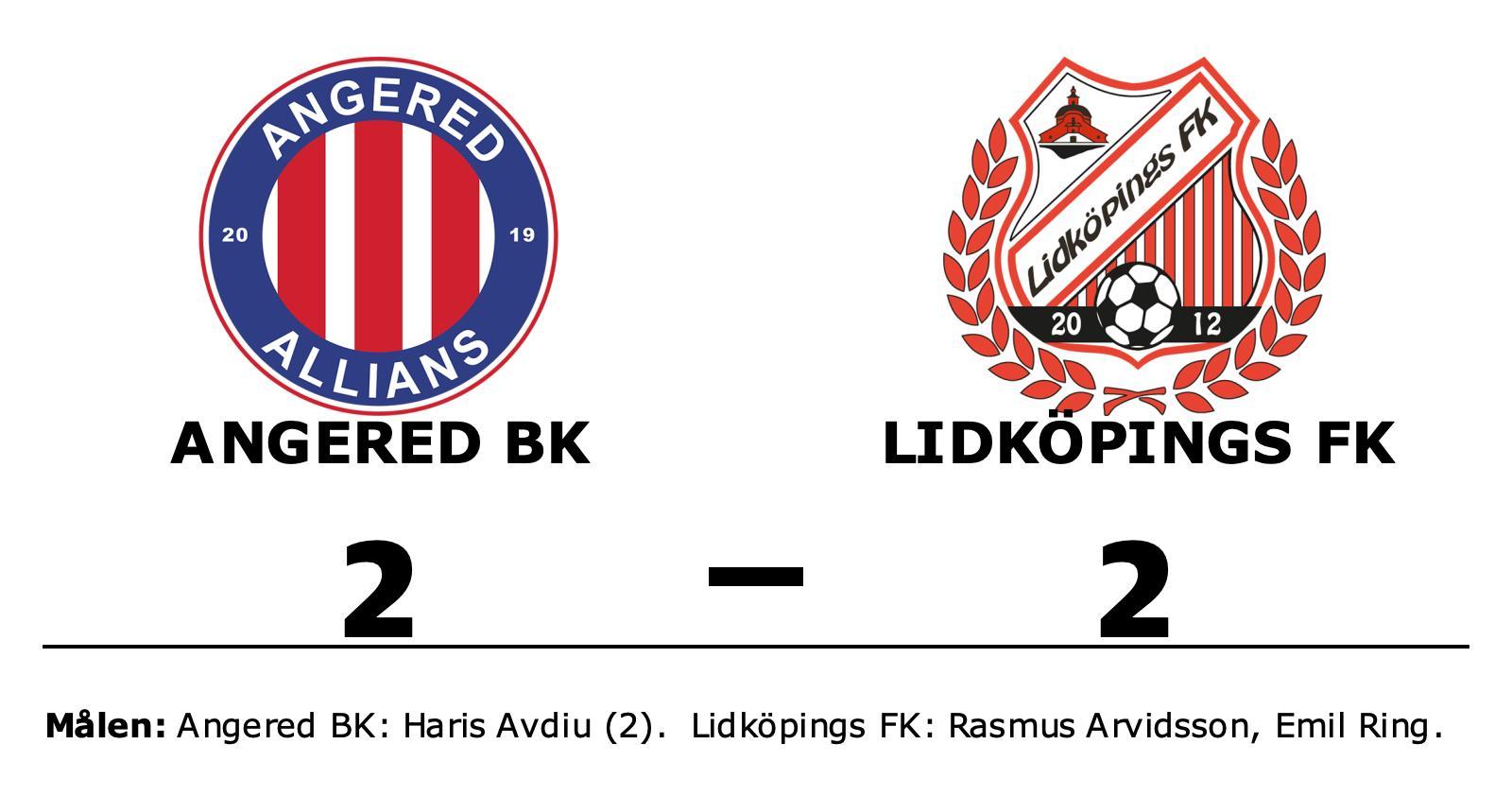Angered BK lyfte sig i andra och fixade kryss hemma mot Lidköpings FK
