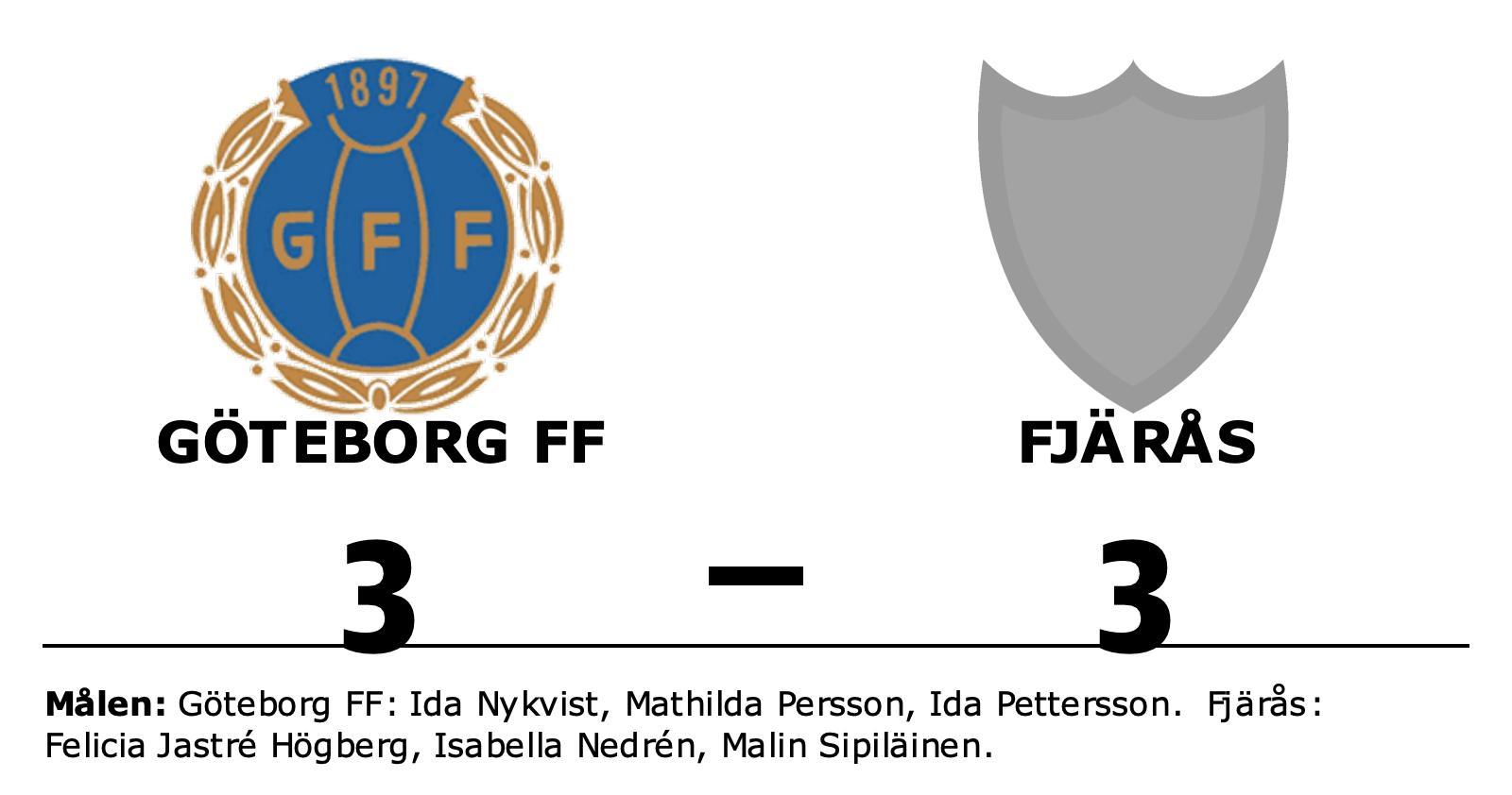 Delad pott för Göteborg FF och Fjärås