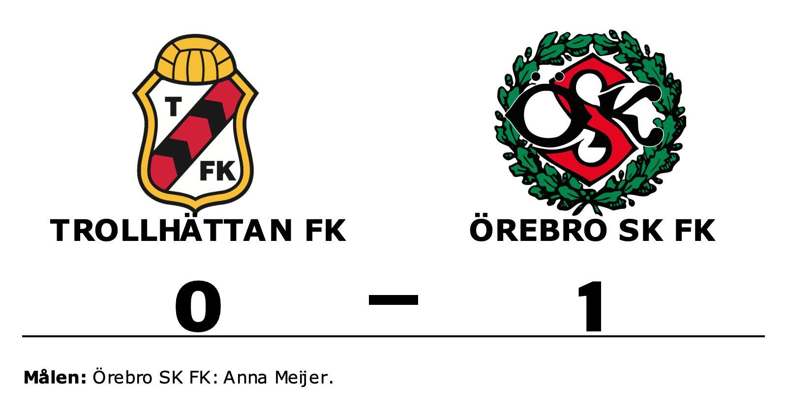 Örebro SK FK upp i topp efter seger mot Trollhättan FK