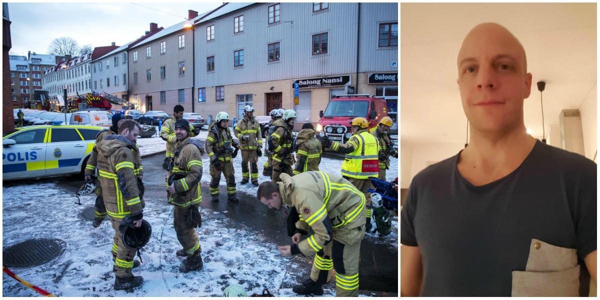Brandmannen hyllar allmänheten efter branden