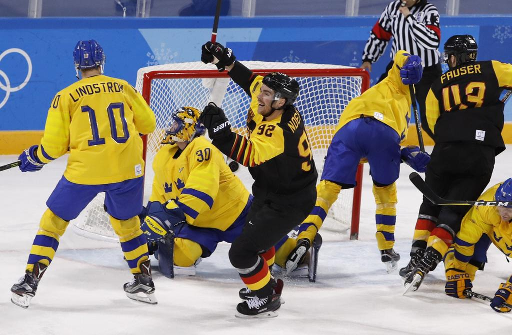 2018+Winter+Olympics%2C+Day+12%2C+Ice+Hockey%2C+Men%27s+Quarterfinals%2C+Sweden+-+Germany