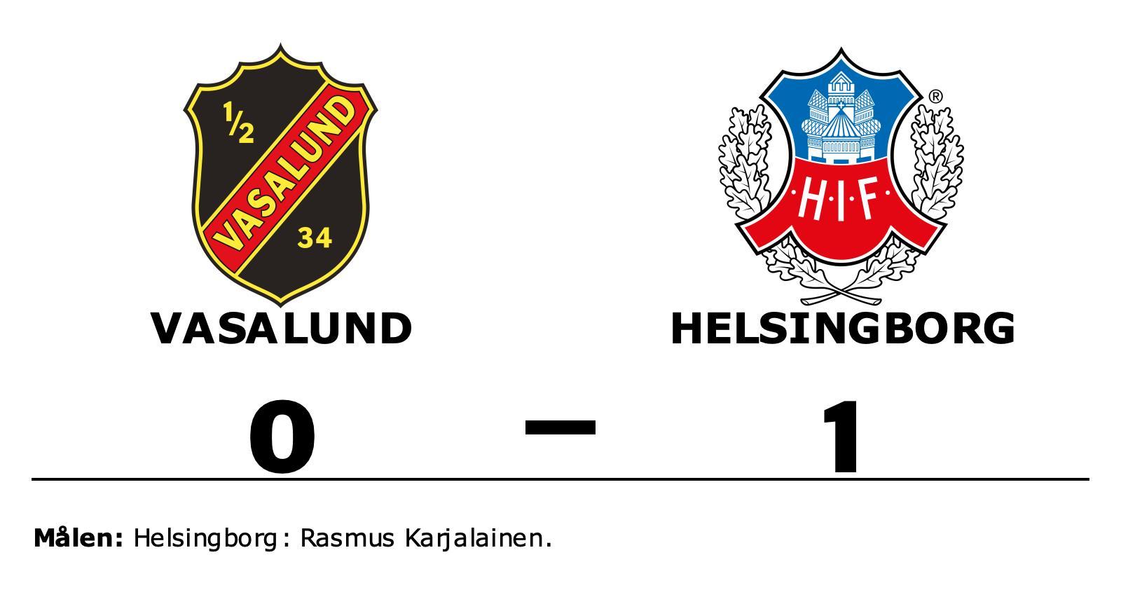 1–0-seger för Helsingborg mot Vasalund – Rasmus Karjalainen matchhjälte