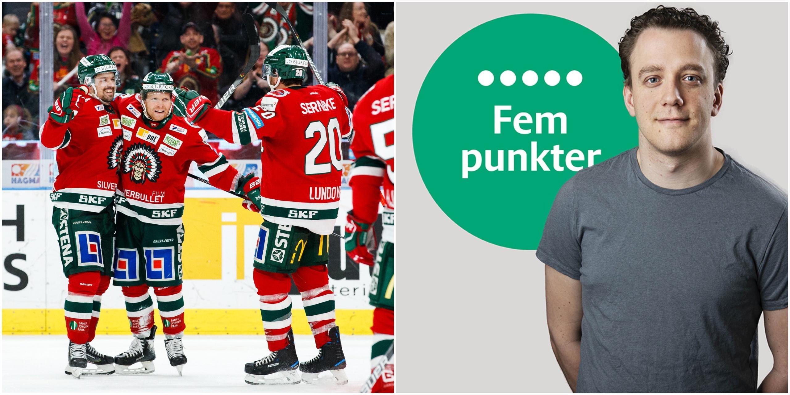 Fem punkter efter Frölundas matcher mot Rögle och Växjö