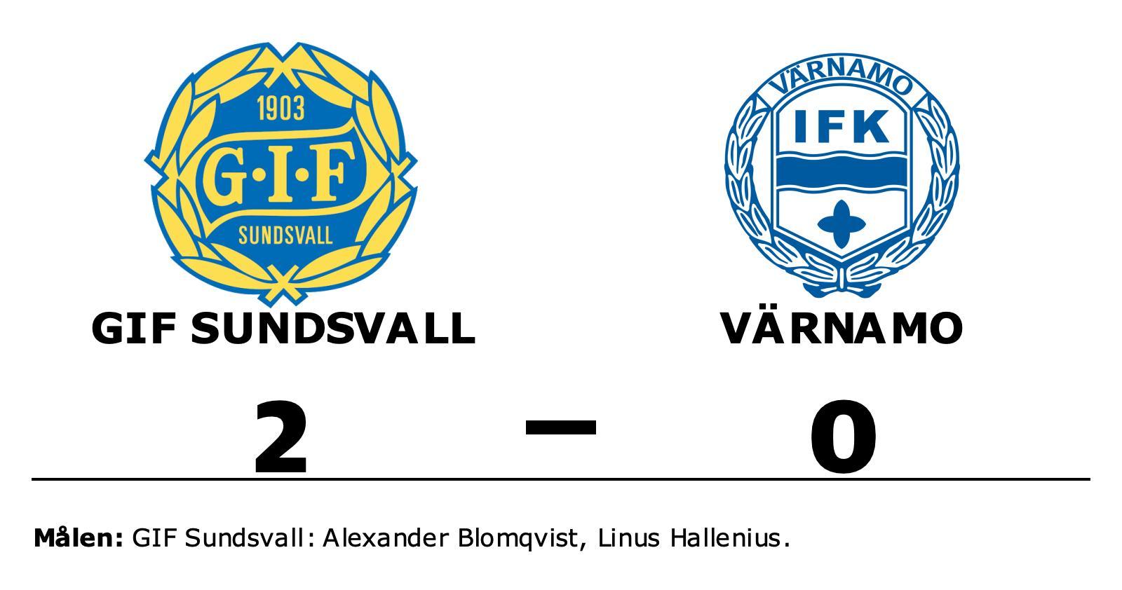 GIF Sundsvalls Alexander Blomqvist och Linus Hallenius sänkte Värnamo