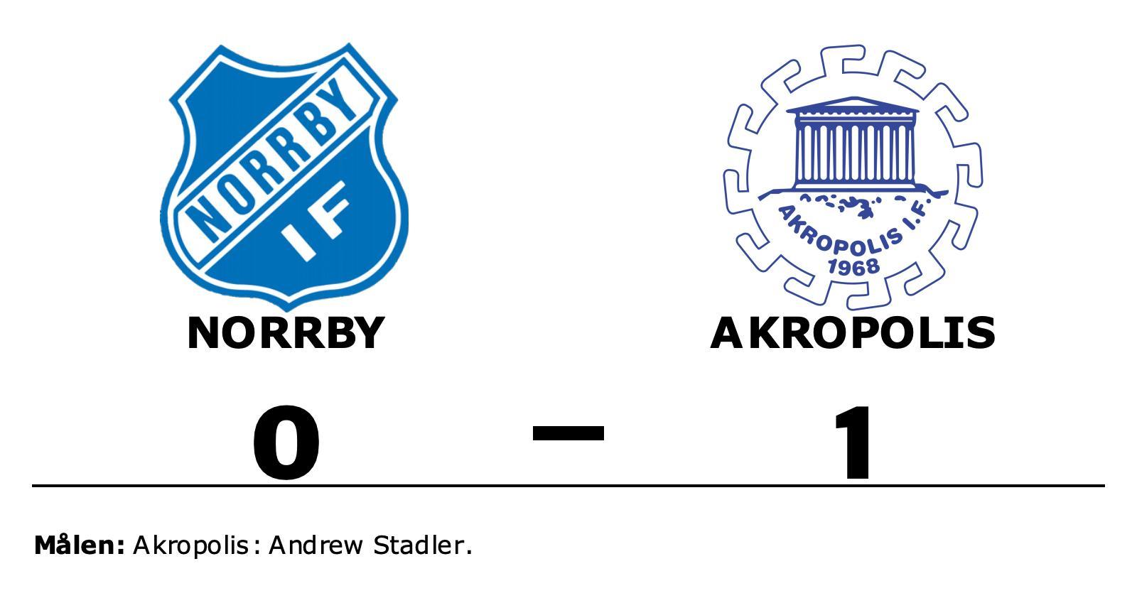 Andrew Stadler målskytt när Akropolis sänkte Norrby