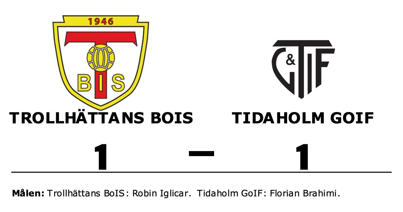 Robin Iglicar räddade poäng när Trollhättans BoIS kryssade mot Tidaholm GoIF