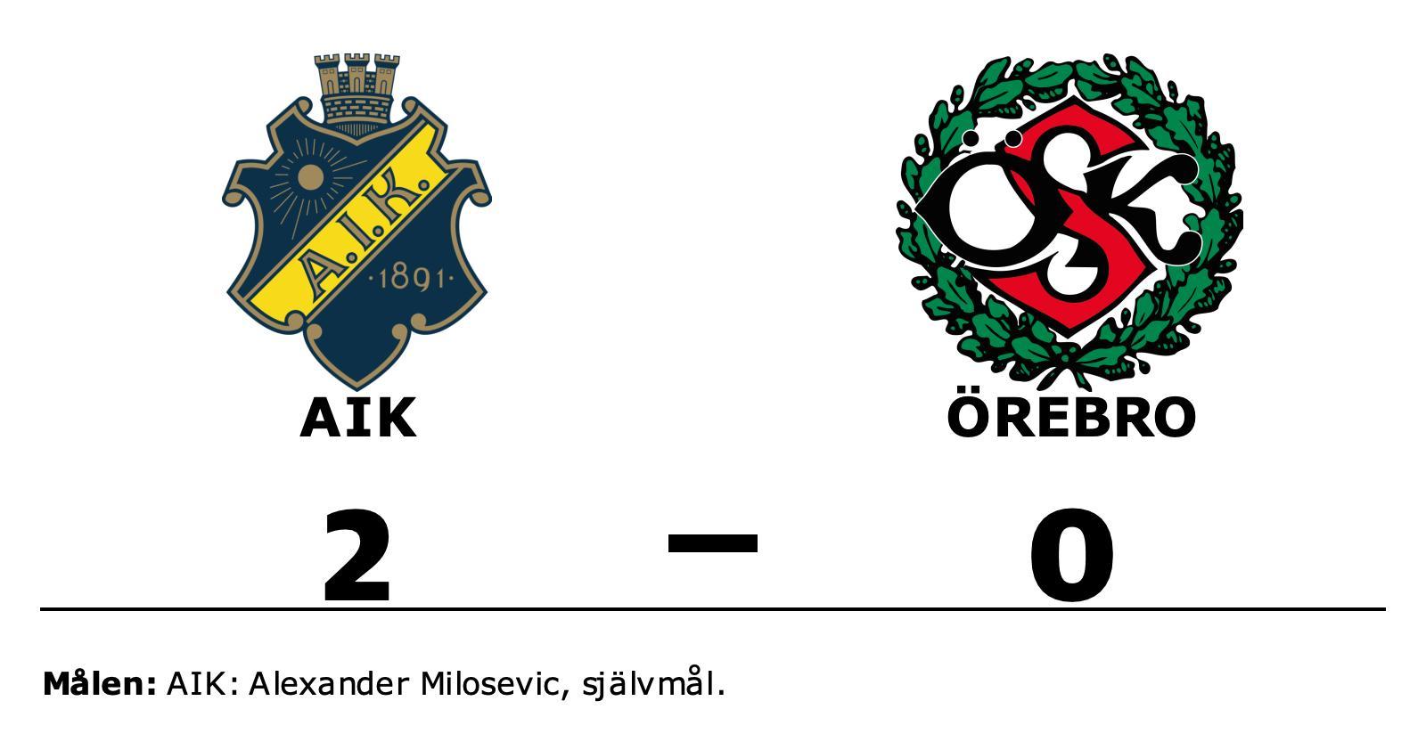 AIK besegrade Örebro och toppar nu tabellen