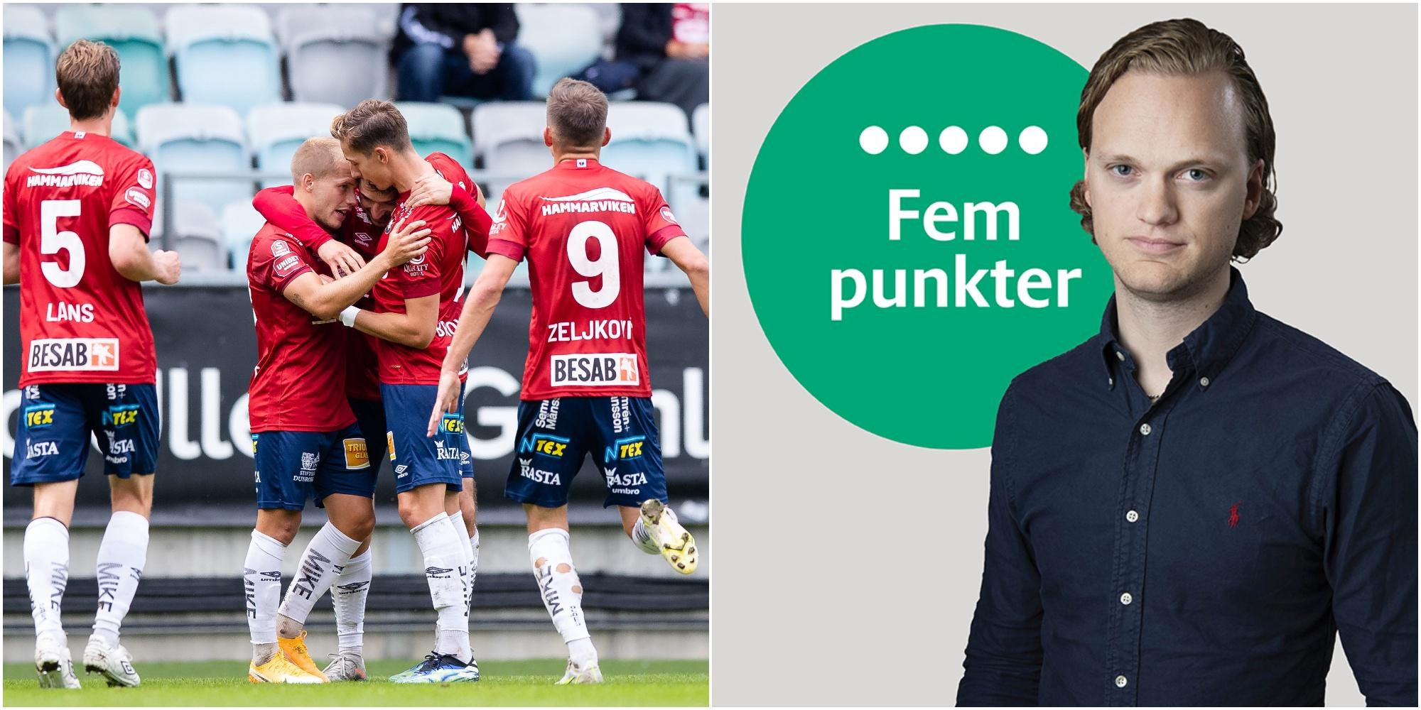 Fem punkter efter Gif Sundsvall–Öis